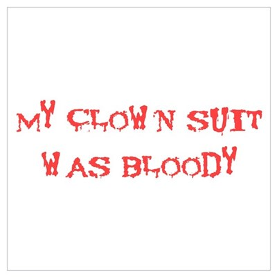 Bloody Clown Poster