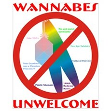 Wannabes Unwelcome with Text Framed Print
