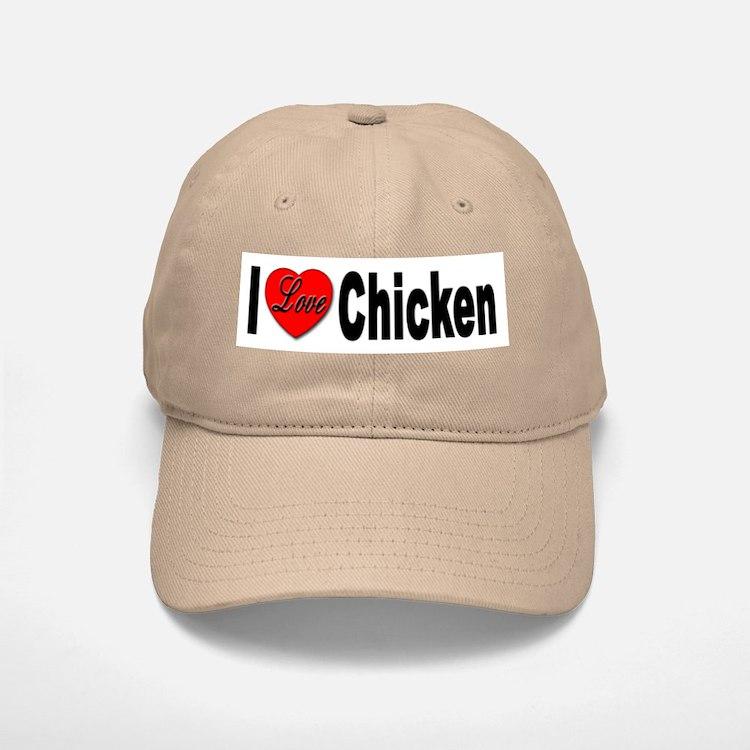 I Love Chicken Baseball Baseball Cap