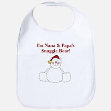 Nana and Papa's Snuggle Bear Bib