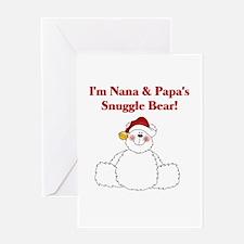 Nana and Papa's Snuggle Bear Greeting Card