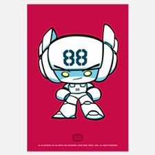 White Robot 88 on Red