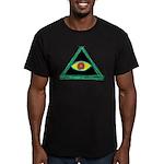 Badass Illuminati Men's Fitted T-Shirt (dark)