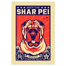 Obey the Shar Pei! Framed Print