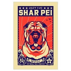 Obey the Shar Pei! Poster
