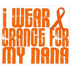 I Wear Orange For My Nana 16 Poster