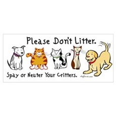 Don't Litter - Spay or Neuter Canvas Art