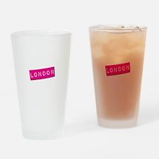 London Punchtape Drinking Glass