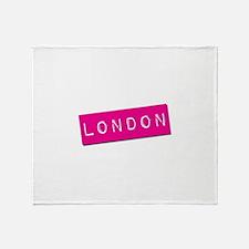 London Punchtape Throw Blanket