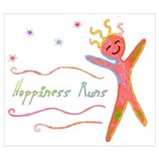 Happiness Runs Framed Print