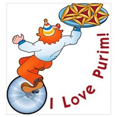 I Love Purim! Framed Print