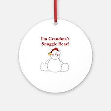 Grandma's Snuggle Bear Ornament (Round)
