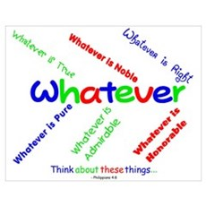 Whatever - Blue, Red, Green Poster