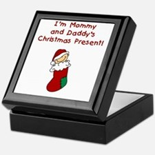 Mommy and Daddy's Christmas Present Keepsake Box