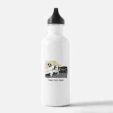 Landseer with Draft Cart Water Bottle