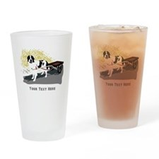 Landseer with Draft Cart Drinking Glass