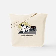 Landseer with Draft Cart Tote Bag