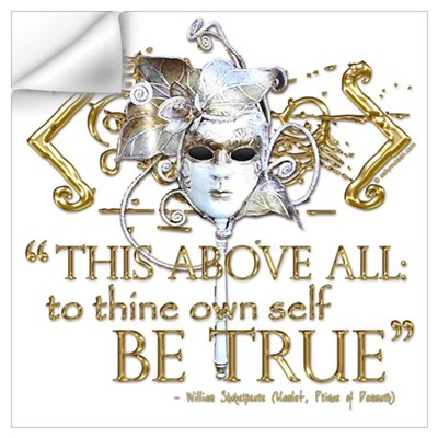 "Hamlet ""Be True"" Quote Wall Decal"
