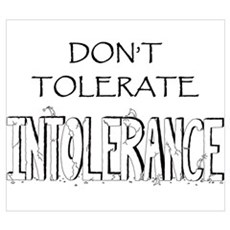 Don't Tolerate Intolerance Framed Print