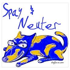Spay & Neuter (Blue Dog) Poster