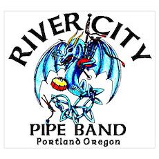 Piping/Drumming Dragon Poster