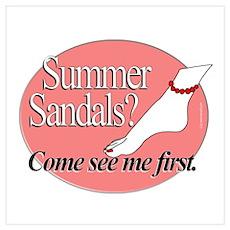 Summer Sandals Poster