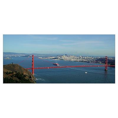Small Framed Golden Gate Print Poster