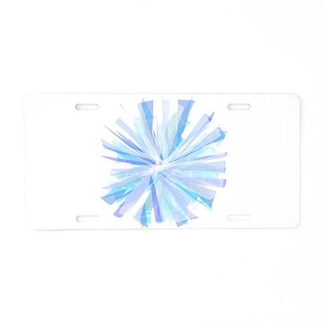 Snowflake Aluminum License Plate