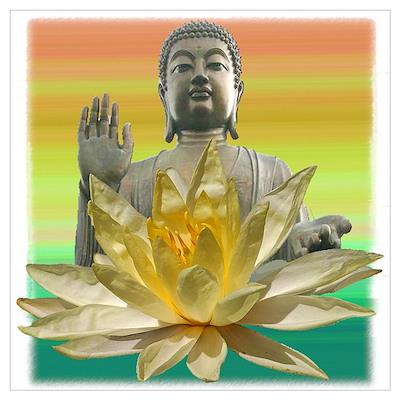 BUDDHA SUNRISE Poster