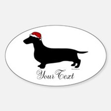 Santa Doxie Sticker (Oval)