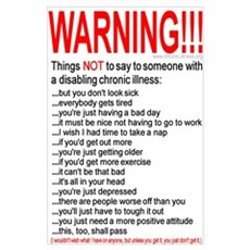 Disabling Chronic Illness Poster