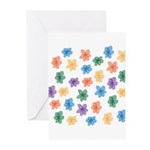 Pattern of Flowers Greeting Cards (Pk of 20)