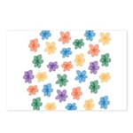 Pattern of Flowers Postcards (Package of 8)