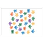 Pattern of Flowers Large Poster