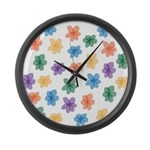 Pattern of Flowers Large Wall Clock