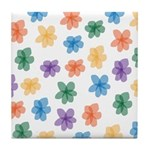 Pattern of Flowers Tile Coaster