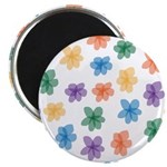 Pattern of Flowers Magnet