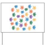 Pattern of Flowers Yard Sign