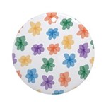 Pattern of Flowers Ornament (Round)