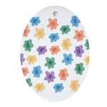 Pattern of Flowers Ornament (Oval)