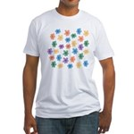 Pattern of Flowers Fitted T-Shirt