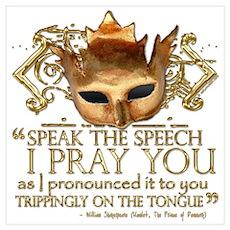 "Hamlet ""Speech"" Quote Poster"