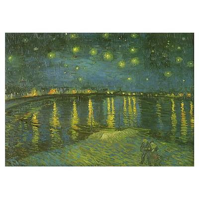 Van Gogh Starry Night Rhone Poster