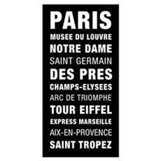 Paris Bus Roll Destination Poster