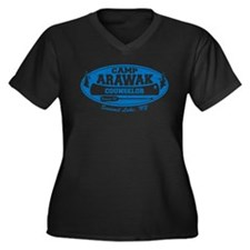 Camp Arawak Women's Plus Size V-Neck Dark T-Shirt