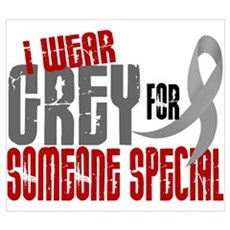 I Wear Grey For Someone Special 6 ri Framed Print