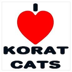 I love Korat Cats Poster