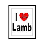 I Love Lamb Framed Panel Print