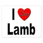 I Love Lamb Small Poster