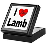 I Love Lamb Keepsake Box
